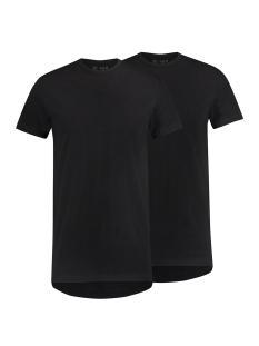 RJ Bodywear T-shirt ROTTERDAM O NECK 2-PACK ZWART