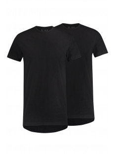 RJ Bodywear T-shirt ROTTERDAM O NECK 2PACK ZWART