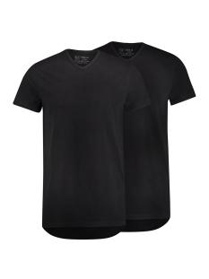 RJ Bodywear T-shirt GOUDA V NECK 2-PACK ZWART