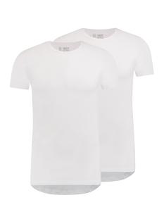RJ Bodywear T-shirt MAASTRICHT O NECK 2PACK WIT