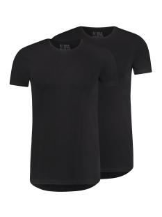 RJ Bodywear T-shirt MAASTRICHT O NECK 2PACK ZWART