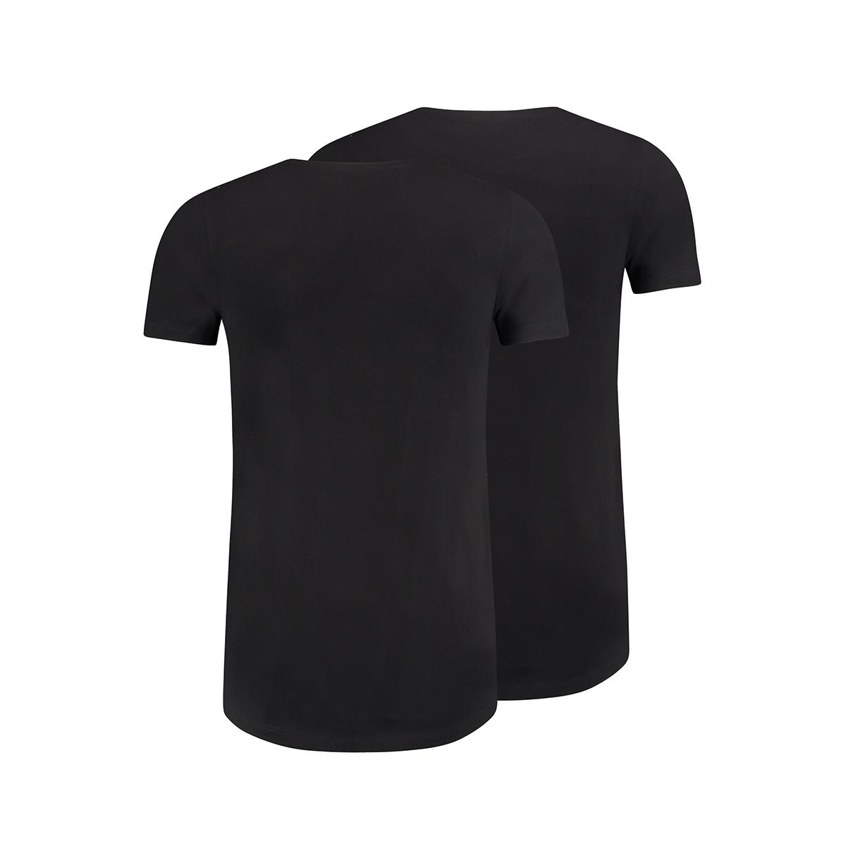 maastricht o neck 2pack rj bodywear t-shirt zwart