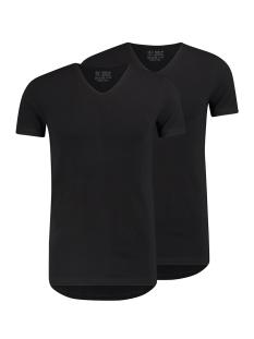 RJ Bodywear T-shirt DEN BOSCH V NECK 2-PACK ZWART
