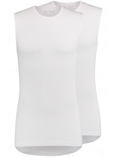 RJ Bodywear T-shirt ASSEN SLEEVELESS 2-PACK WIT
