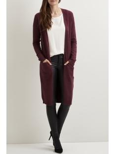viril l/s long knit cardigan-noos 14042770 vila vest winetasting/melange