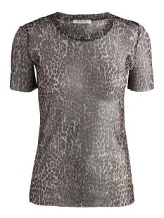 Pieces T-shirt PCMULU SS MESH TOP D2D PB 17094146 Black/LEO