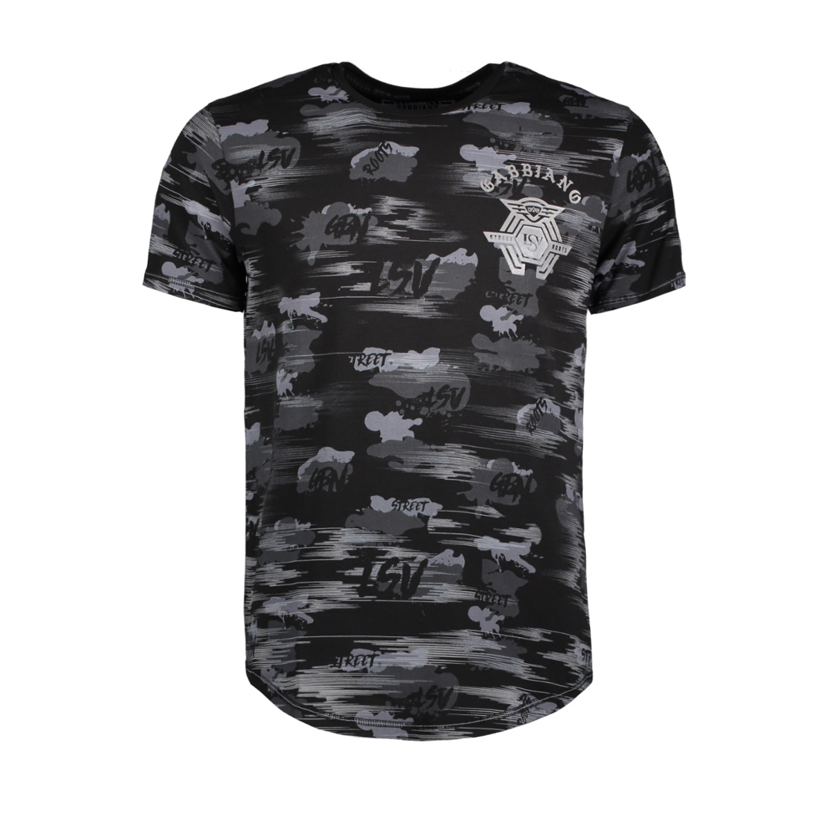 13862 gabbiano t-shirt black