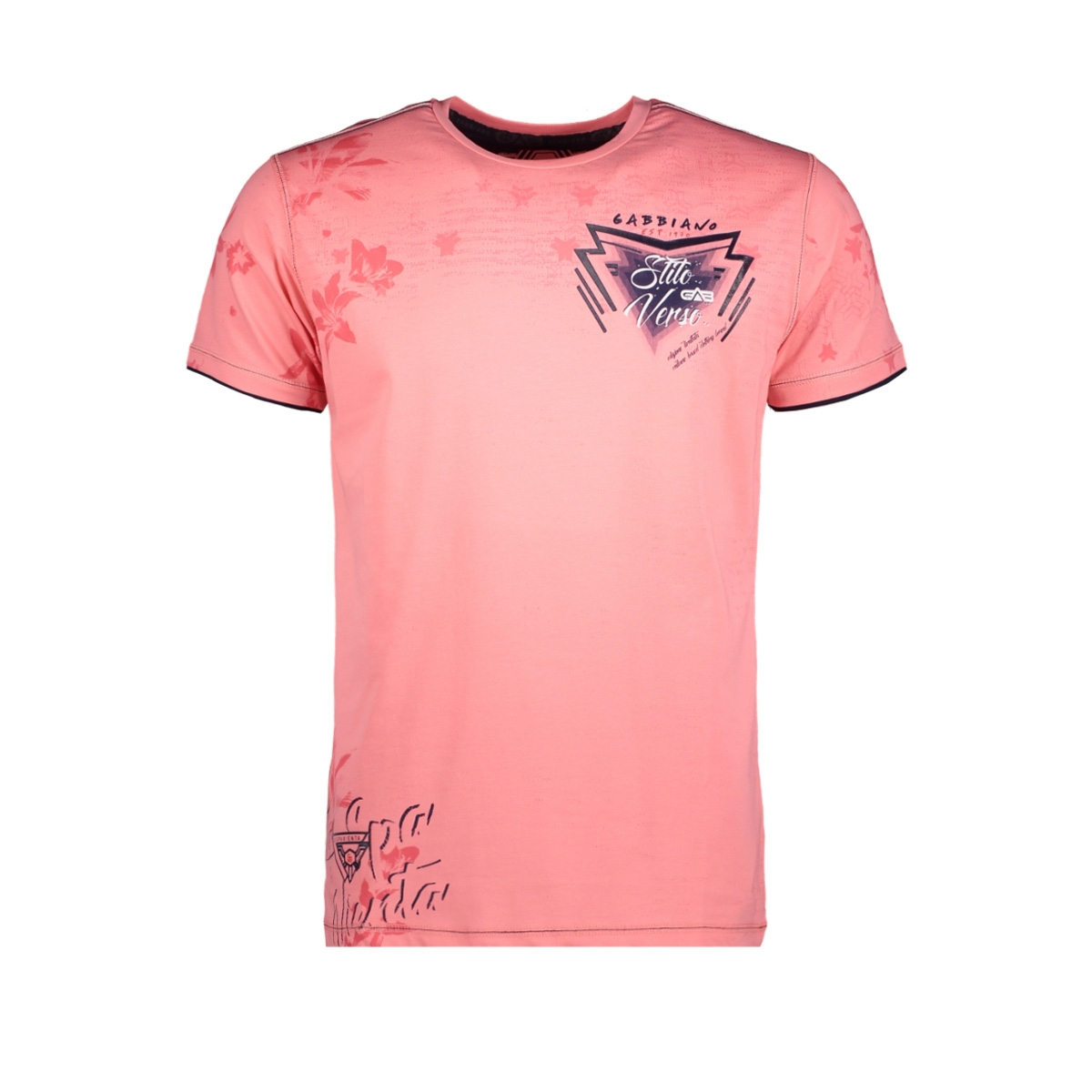 13896 gabbiano t-shirt salmon pink