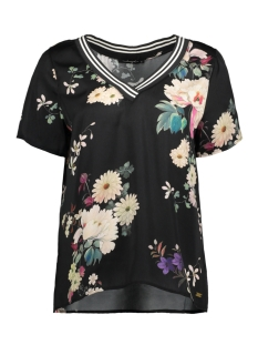 Dayz T-shirt JENNIFER PRINT TOP BLACK FLOWER