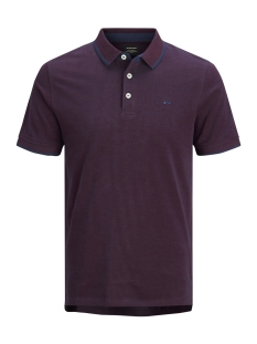 Jack & Jones Polo JJEPAULOS POLO SS NOOS 12136668 Port Royale/SLIM FIT