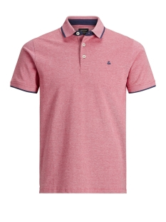 jjepaulos polo ss noos 12136668 jack & jones polo brick red/slim fit