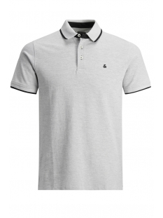 Jack & Jones Polo JJEPAULOS POLO SS NOOS 12136668 Light Grey Melange