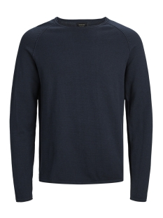 Jack & Jones Trui JJEUNION KNIT CREW NECK NOOS 12137172 Ensign Blue/twisted wi