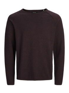 Jack & Jones Trui JJEUNION KNIT CREW NECK NOOS 12137172 Port Royale/twisted wi