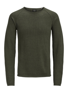 Jack & Jones Trui JJEUNION KNIT CREW NECK NOOS 12137172 Olive Night/Melange