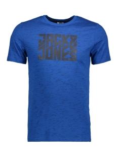 jcoleon tee ss crewneck 12123092 jack & jones t-shirt classic blue