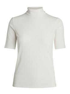 Pieces T-shirt PCFIG SS ROLL NECK TOP 17090255 Cloud Dancer