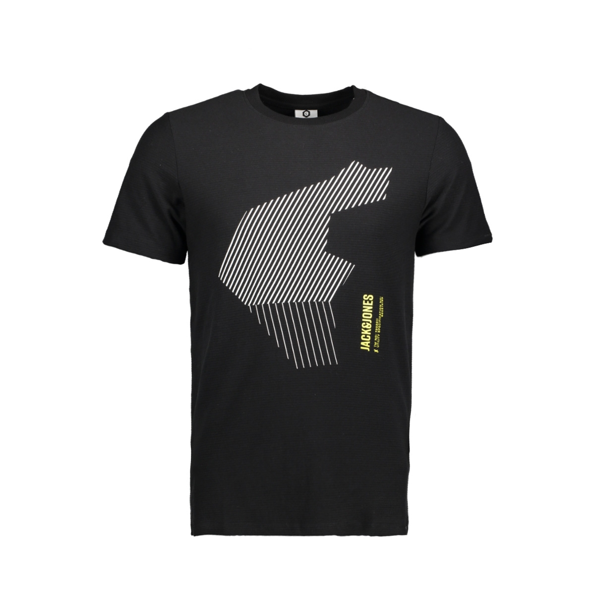 jconine tee ss 12137031 jack & jones t-shirt black
