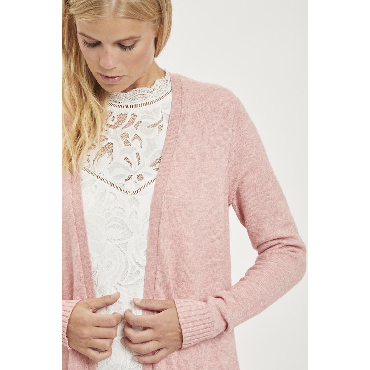 viril l/s long knit cardigan-noos 14042770 vila vest ash rose/melange
