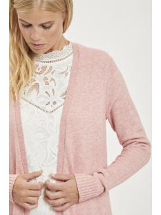 viril l/s long knit cardigan-noos 14042770 vila vest ash rose/melange
