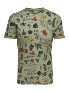 onsnew dimas fitted ss tee 22012732 only & sons t-shirt seagrass