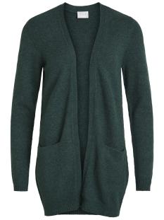 viril l/s  open knit cardigan-noos 14044041 vila vest pine grove/melange