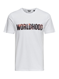 onsworldhood fitted tee 22011347 only & sons t-shirt white