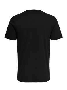 onsworldhood fitted tee 22011347 only & sons t-shirt black