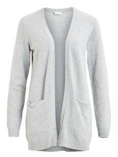 Vila Vest VIRIL L/S  OPEN KNIT CARDIGAN-NOOS 14044041 Light Grey Melange