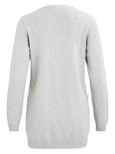 viril l/s  open knit cardigan-noos 14044041 vila vest light grey melange