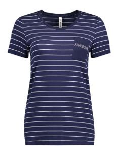 Zoso T-shirt ANGELA T-SHIRT NAVY/WHITE