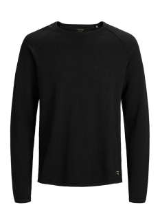 Jack & Jones Trui JJEUNION KNIT CREW NECK NOOS 12137172 Black