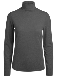 Pieces T-shirt PCFAY LS  ROLLNECK TOP 17092706 Dark Grey Melange