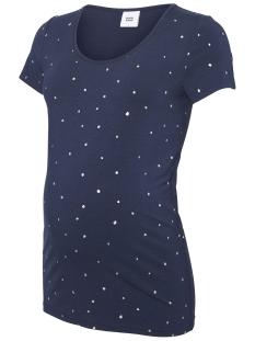 Mama-Licious Positie shirt MLDALLAS S/S JERSEY TOP 20009667 Navy Blazer/ Silver Foi