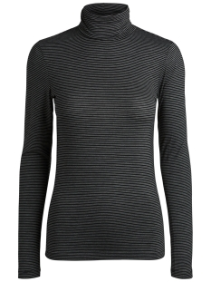 Pieces T-shirt PCBILLO LS ROLLNECK TOP NOOS 17091564 Black/BRIGHT WHI