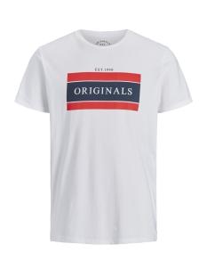 Jack & Jones T-shirt JORSHAKEDOWN TEE SS CREW NECK 12139921 White/SLIM