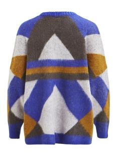 viwonda knit l/s coatigan 14049373 vila vest clematis blue/ w iris/asp