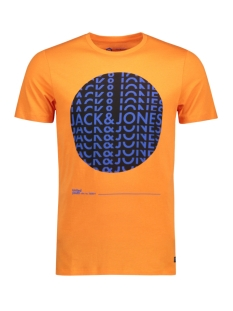 Jack & Jones T-shirt JCOBOOSTER TEE SS CREW NECK AUGUST 12148143 Persimmon Orang/SLIM