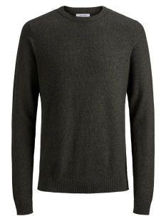 Jack & Jones Trui JJESTRUCTURE KNIT CREW NECK NOOS 12137171 Deep Depths/twisted