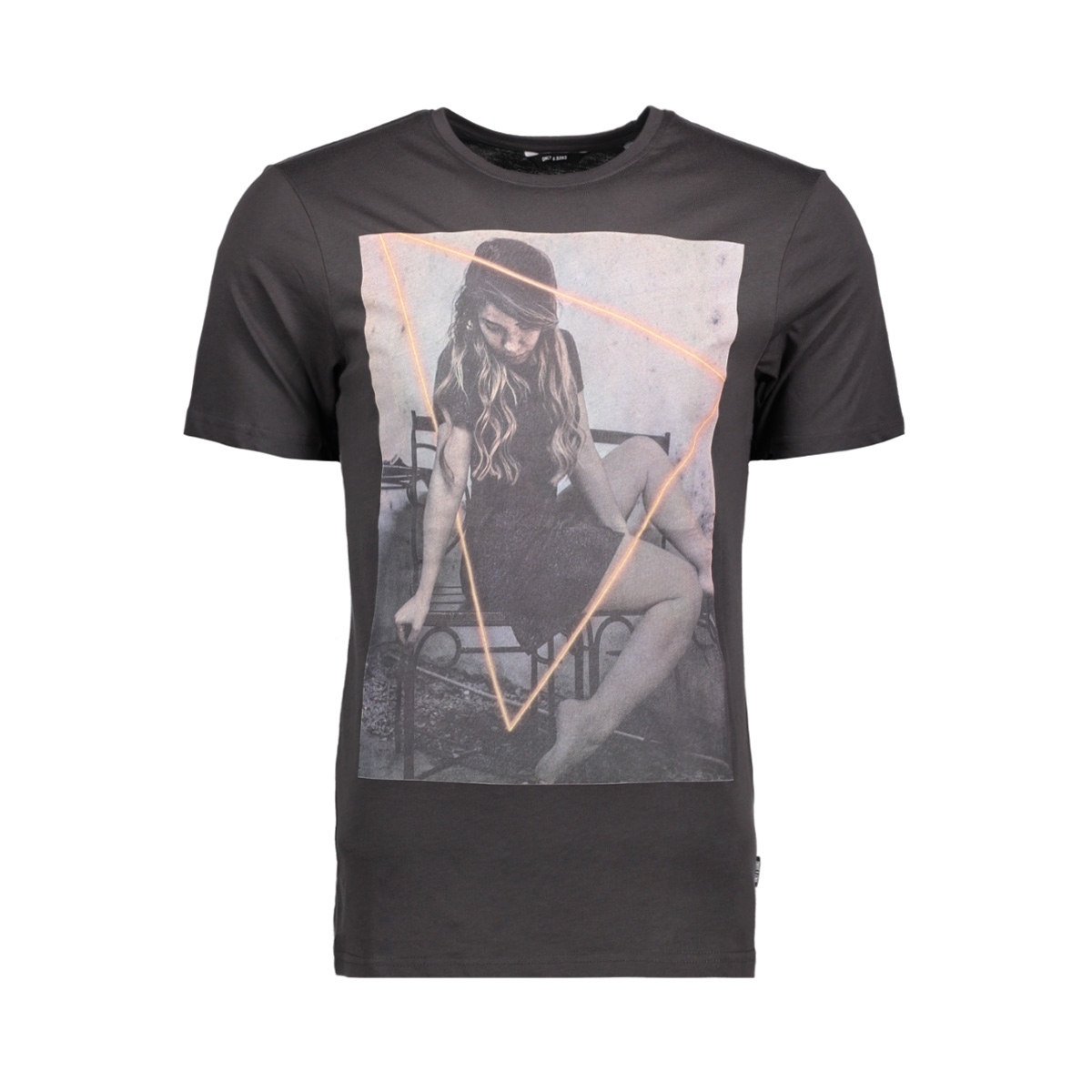 onsgideon ss tee 22010354 only & sons t-shirt phantom