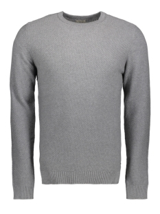 Jack & Jones Trui JJESTRUCTURE KNIT CREW NECK NOOS 12137171 Grey Melange