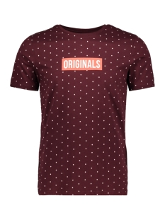 Jack & Jones T-shirt JORPOLKA TEE SS CREW NECK 12148332 Port Royale/SLIM FIT