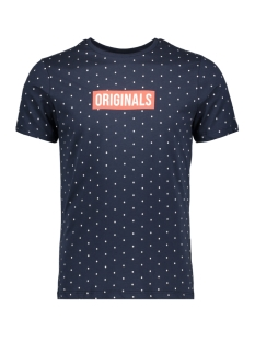 Jack & Jones T-shirt JORPOLKA TEE SS CREW NECK 12148332 Total Eclipse/SLIM FIT