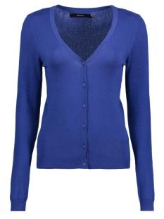 Vero Moda Vest VMGLORY VIPE LS V-NECK CARD COLOR 10137170 Mazarine Blue