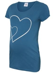 Mama-Licious Positie shirt MLEMMA S/S JERSEY TOP A. V. 20008984 Lyons Blue/SNOW WHITE