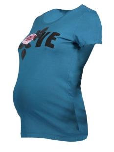 Mama-Licious Positie shirt MLPIHL S/S JERSEY TOP A 20008871 Lyons Blue/FRONTPRINT