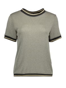 Luba T-shirt EMILLY GLITTER TOP OLIJF