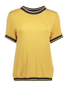 Luba T-shirt EMILLY GLITTER TOP OKERGEEL