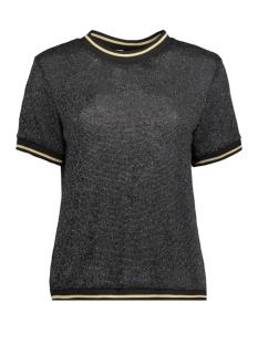Luba T-shirt EMILLY GLITTER TOP ZWART