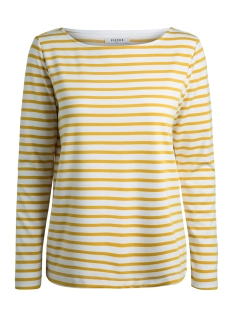 Pieces T-shirt PCINGRID LS TOP NOOS 17087007 Bright White/NUGGET GOLD